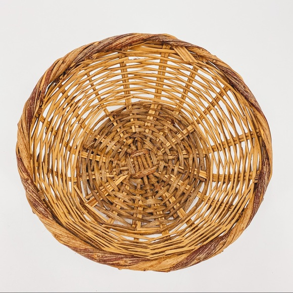 Vintage Wicker Natural Woven Basket Wall Decor